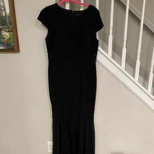 Black evening gown with mesh detail 12